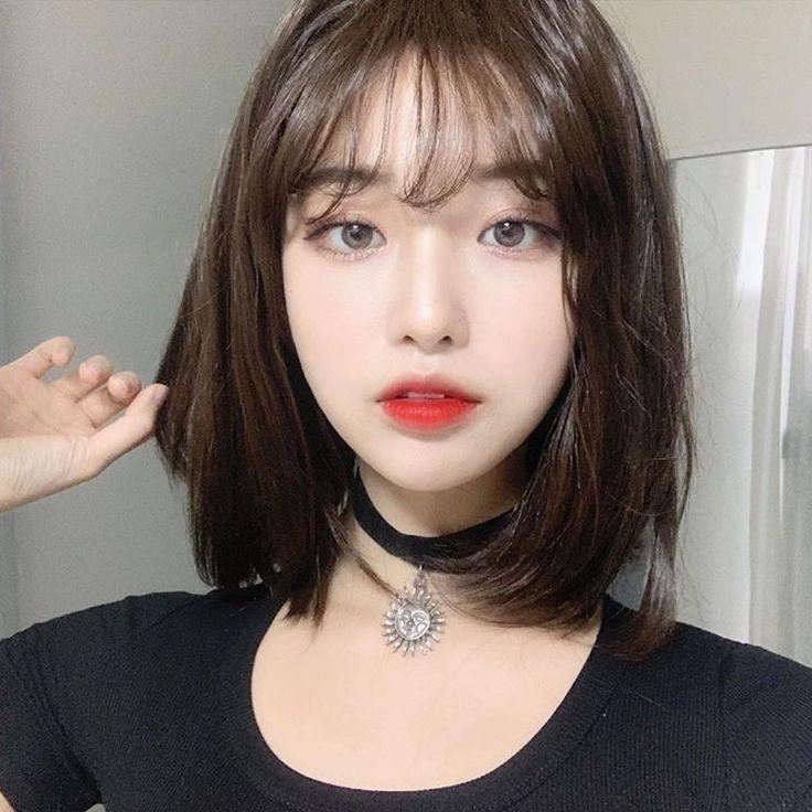 It S Not A Burdensome Medium Length Haircut So I Ve Never Tried It New Site Cabelo Ulzzang Cabelo Com Franjinha Cabelo Coreano