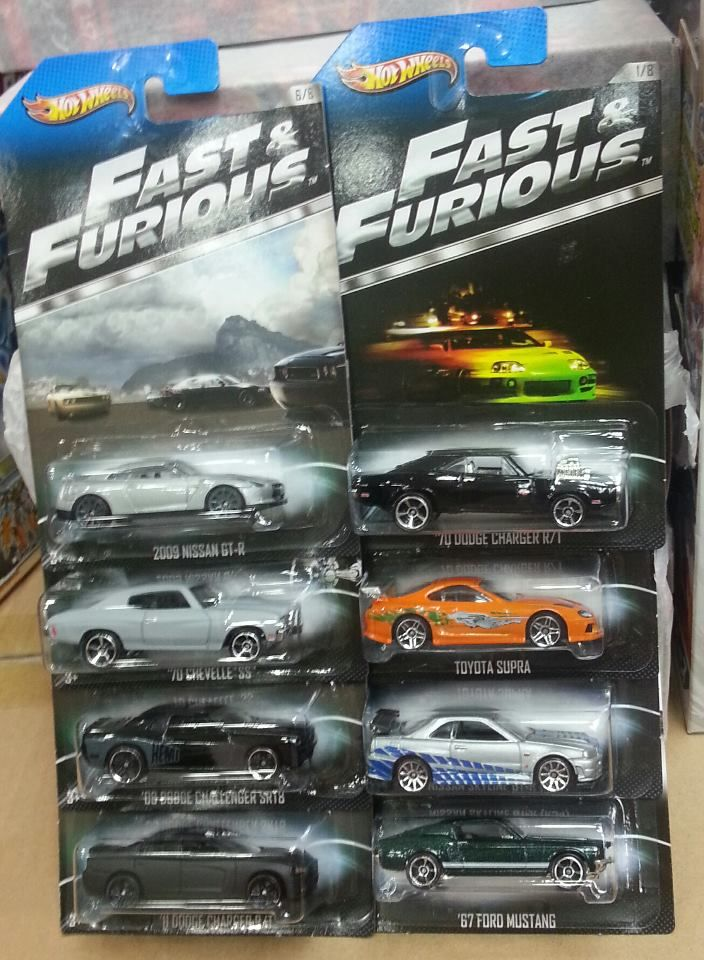 hot wheels fast and furious set