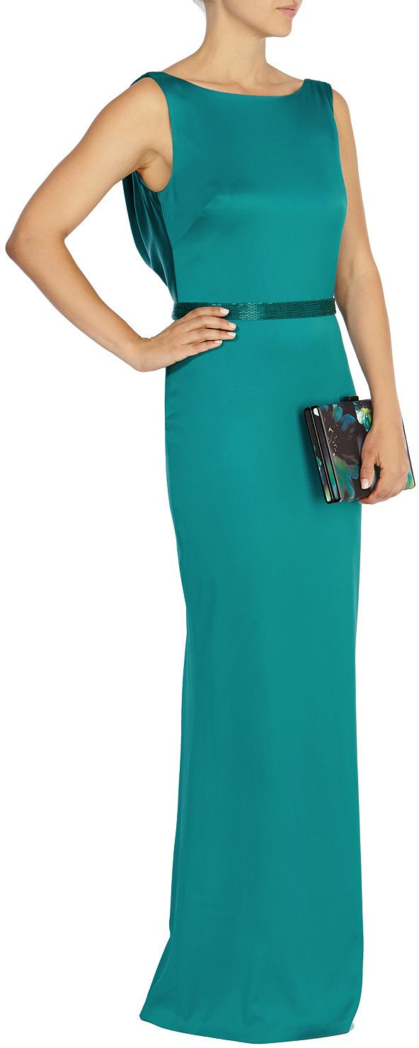 Womens teal maxi dress from Coast - £189 at ClothingByColour.com
