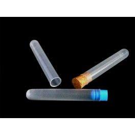 Comprar tubos de ensayo de plástico (polipropileno). 16x100 mm. Capacidad 15 mL. Tapones opcionales de corcho o plástico.