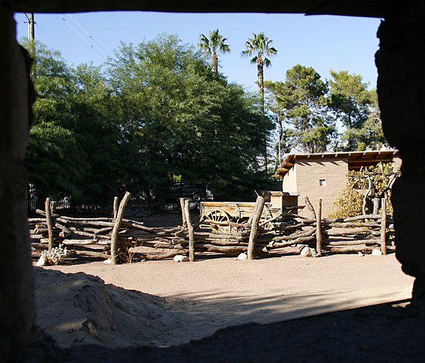 Las Vegas NV - Old Las Vegas Mormon Fort: history, springs, Las Vegas Creek, old fort, ranch house