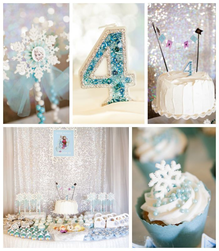 Frozen themed birthday party via Kara's Party Ideas KarasPartyIdeas.com Cake, printables, decor, invitation, games, etc! #frozen #frozenparty #letitgo #winterwonderland