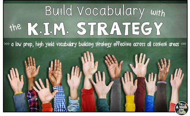 The K.I.M. Strategy is a low-prep, high yield direct vocabulary instructional strategy. It can be used with all levels of learners, across any content area! You can't get much better than that!