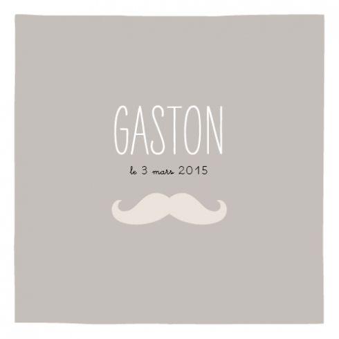 Faire-part naissance Moustache 1 photo by Marion Bizet pour www.fairepartnaissance.fr #fairepartnaissance #moustache #birthannouncement