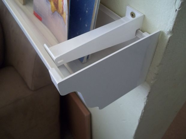 25 best rain gutter shelves ideas on pinterest toddler for Plastic rain gutter bookshelf
