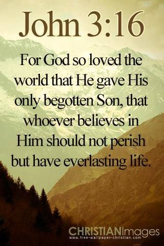 John 3:16   https://www.facebook.com/photo.php?fbid=10151691207063091