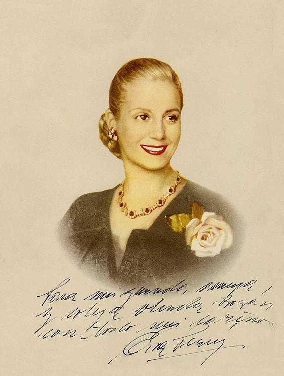 Eva Perón signed.