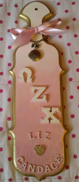paddle power ~ omega zeta chi! submitted by: iamyoungirunfree love these colors!
