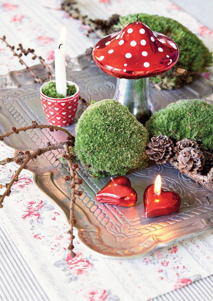 Mushroom Candle Green Gate