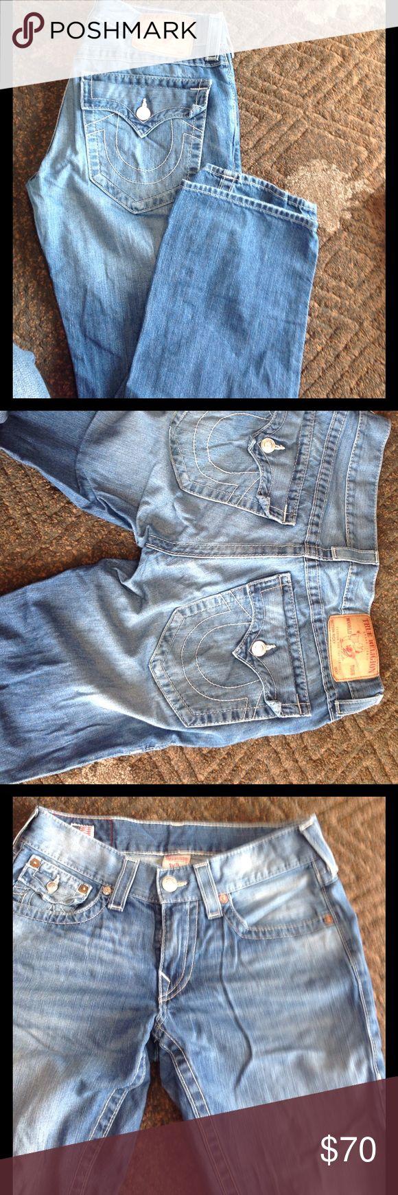 Light denim jeans Men's true religion jeans, like new, strait leg size 31x32 True Religion Jeans Straight
