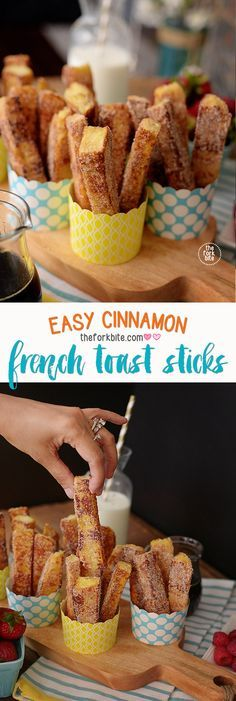 french toast cinnamon stick - Breakfast you can eat with your fingers and dip in syrup
