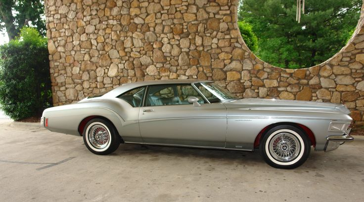 Buick Riviera Silver Arrow show car pinstriping, whitewalls, and wire rims! #Buick #Rvinyl --------------------------------------------------------------------- http://www.rvinyl.com/Buick-Accessories.html