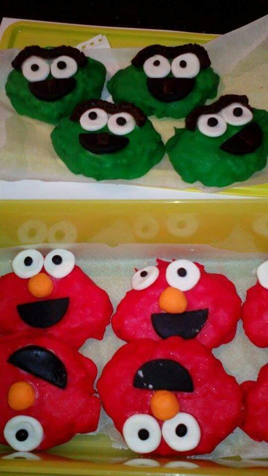 Elmo and Oscar rice Krispy