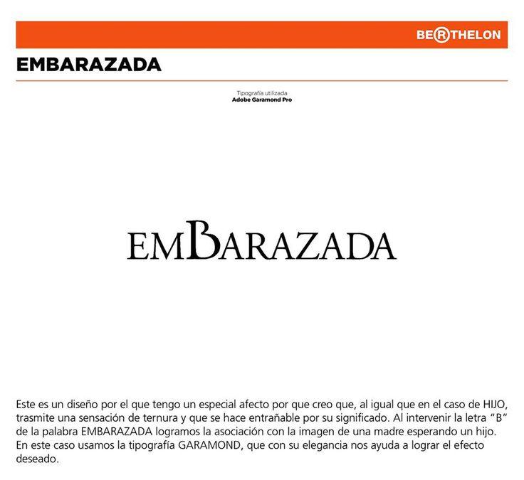 'Embarazada' in Adobe Garamond Pro, from Juan Carlos Berthelon Ojeda's book 'LudoGramas': https://www.facebook.com/ludogramas