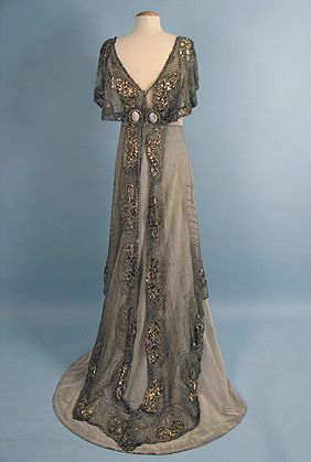 gowns doucet | Jacques Doucet (French, 1871?1929) Evening Gown (back), c. 1911