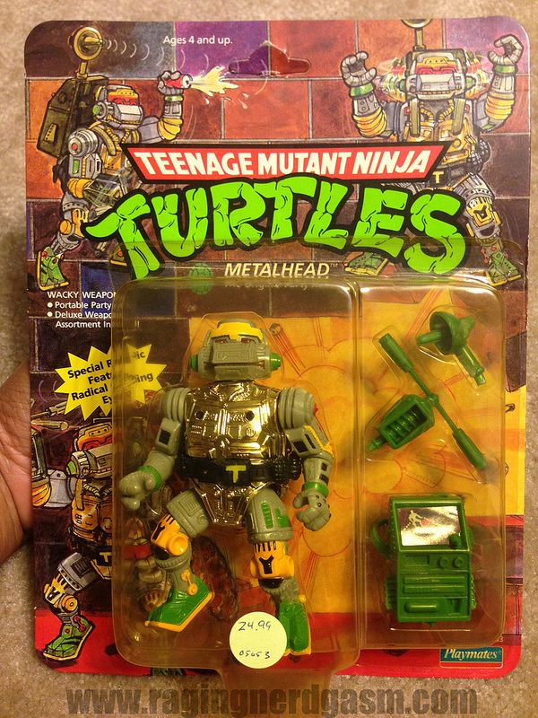 Vintage TMNT Teenage Mutant Ninja Turtle Carded Metalhead https://www.flickr.com/photos/ragingnerdgasm/sets/72157630964402632/
