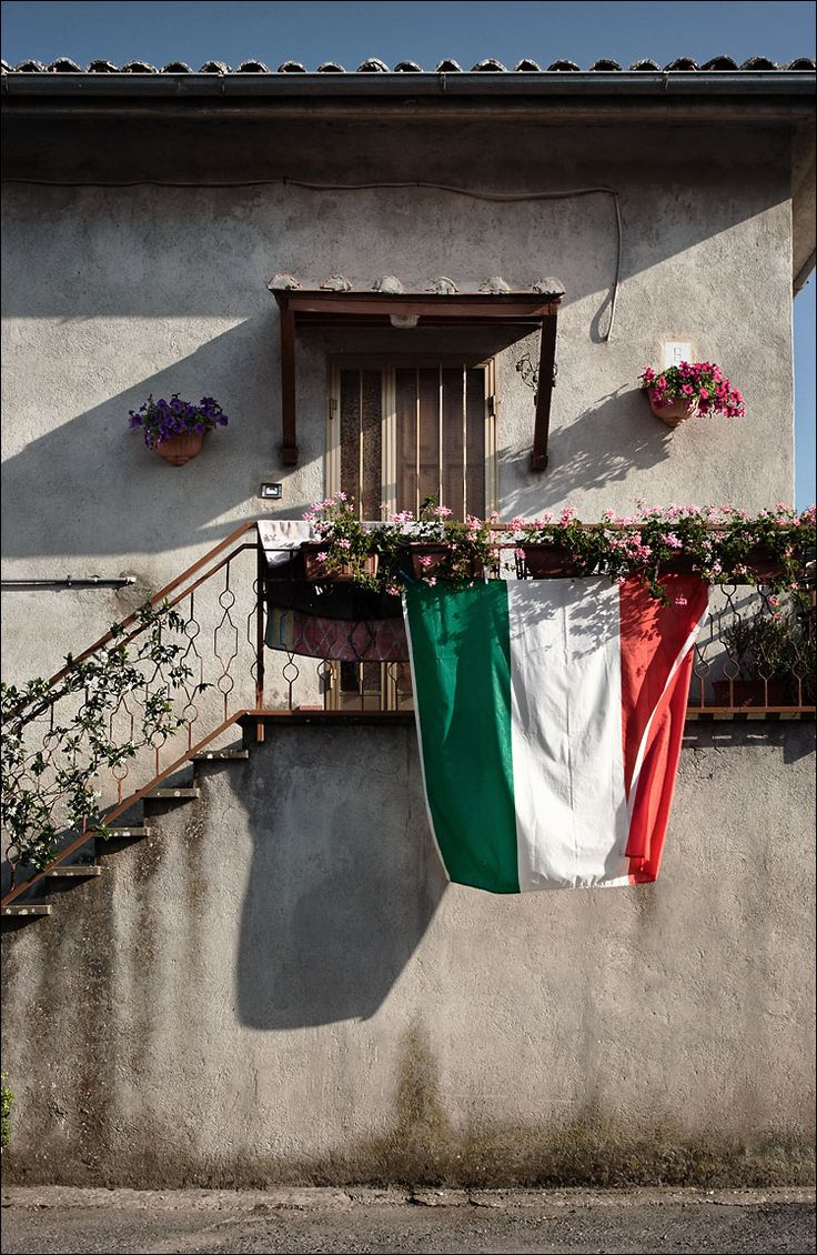 Bolsena, Italy...with Italian flag