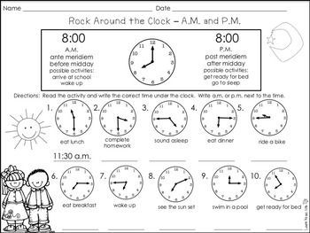Are you teaching your students how to tell time? This product will help your students learn to tell time to the nearest hour, half hour, quarter hour, and five minutes. Students will also practice identifying a.m. and p.m.. Answer keys are included for all activity sheets.