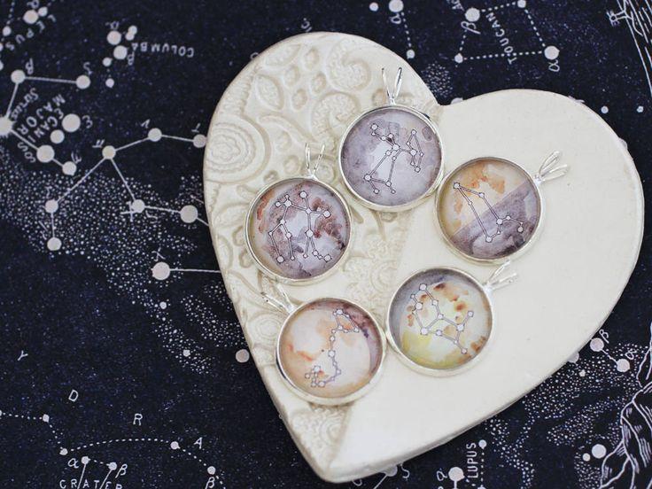 Aangepaste geboorte maan en Zodiac geboorte maan halsketting