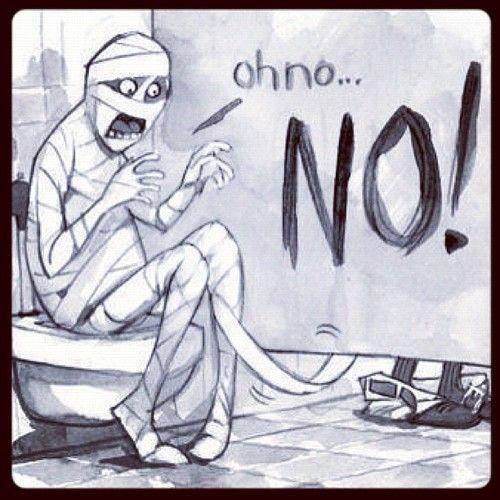 halloween bathroom humor print for the mummy bathroom