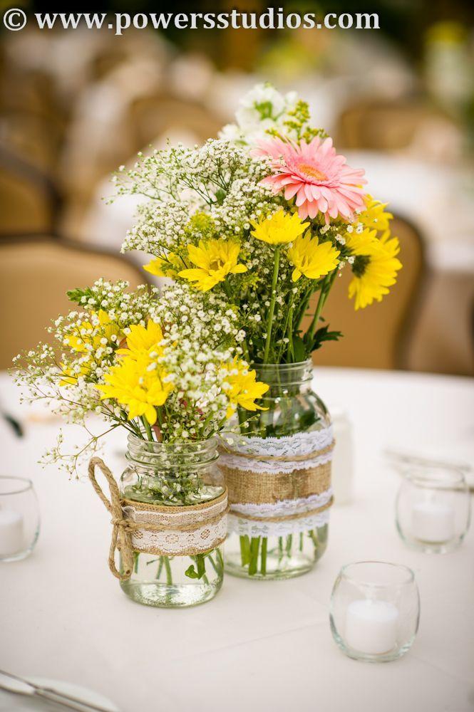 Mason jar flower centerpieces diy
