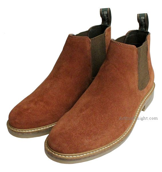 Penshaw Brown Suede Chelsea Boots Mens