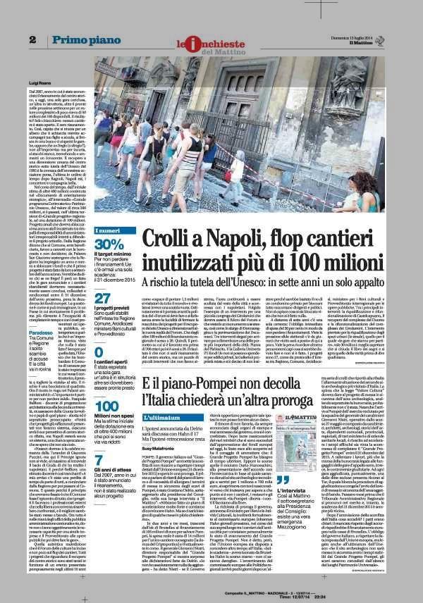 Crolli a Napoli, flop cantieri inutilizzati più di 100 milioni A rischio la tutela dell' Unesco: in sette anni un solo appalto.