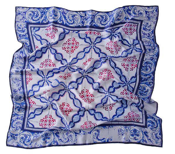 Lenço de Bolso Versatile Rosa-Azul