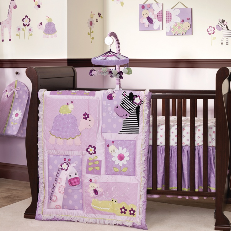 Lambs & Ivy Garden Safari Crib Bedding Collection - If its a girl, this is THE ONE!!!!