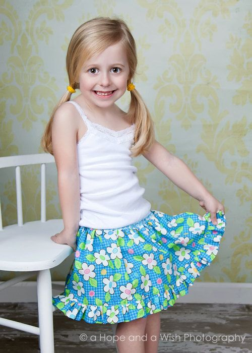 Twirl Skirt Pattern optional Built In Bloomers PDF by tiedyediva (Craft Supplies & Tools, Patterns & Tutorials, Sewing & Needlecraft, Sewing, skirt pattern, skirt, handmade, boutique, twirl skirt pattern, ruffled, girl, toddler, twirly, skirt tutorial, twirl, skort pattern, twirl skirt)