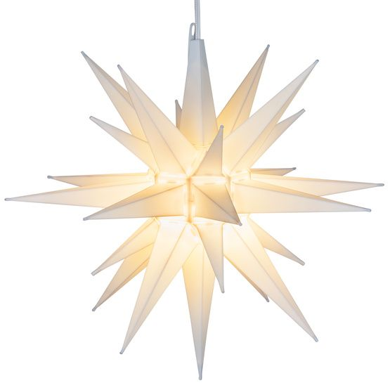 "14"" White LED Moravian Star More"