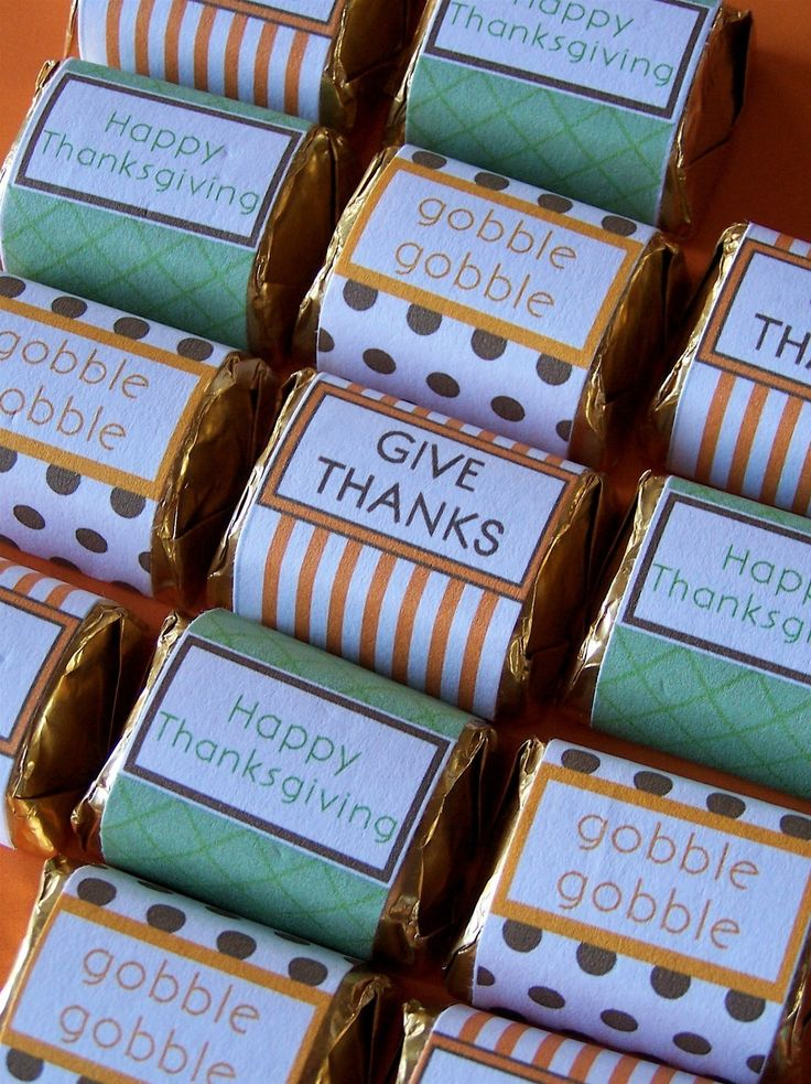 thanksgiving printable mini chocolate bar  candy wrappers