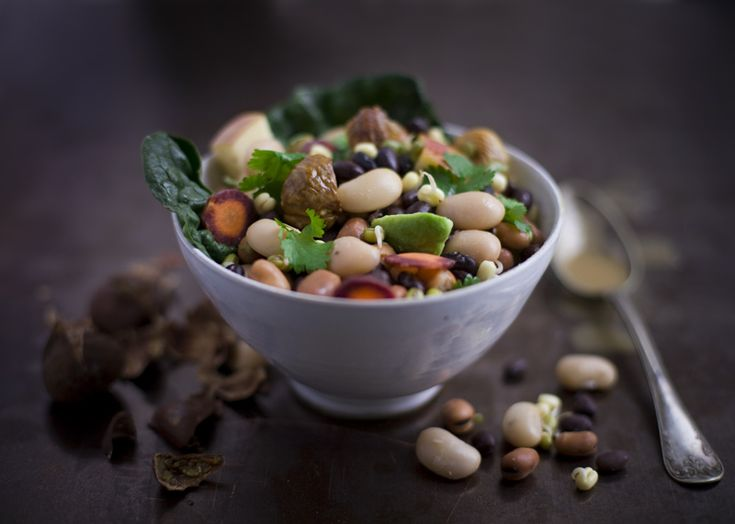 Bean, Tahini & Chestnut SaladHealthy Meals, Green Salad, Salad Recipe, Green Kitchens, Chestnut Salad, Health Food Recipes, Tahini Chestnut, Beans Salad, Health Foods