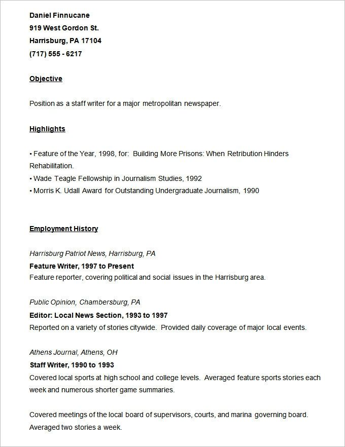 Resume Templates 127 Free Samples Examples Format Sample Resume Templates Job Resume Samples College Resume