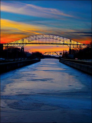 International Bridge, Sault Ste Marie, Ontario by Ashley