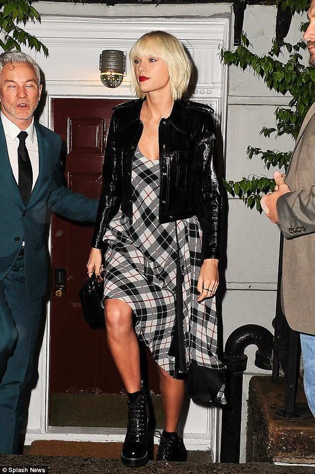 Do blondes have more fun? Taylor Swift tried out a new punk rock look to go with her recently-dyed bleach blonde locks at Anna Wintour's pre-Met Gala bash