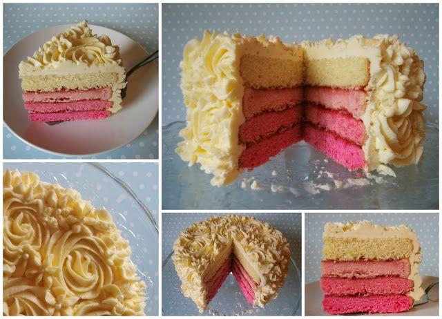 Miss Blueberrymuffin's kitchen: Pink Ombre Cake