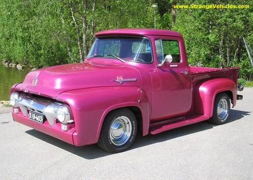 OLD FORD TRUCK - IS THAT PINK?