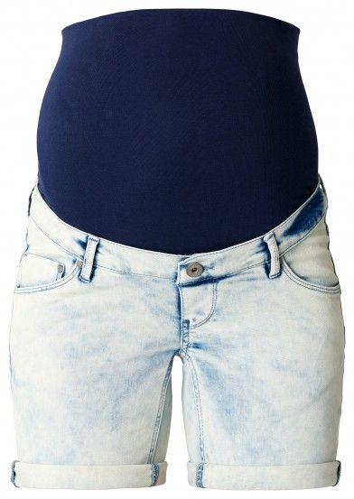 Tehotenské krátke džínsy  NOPPIES - modrá