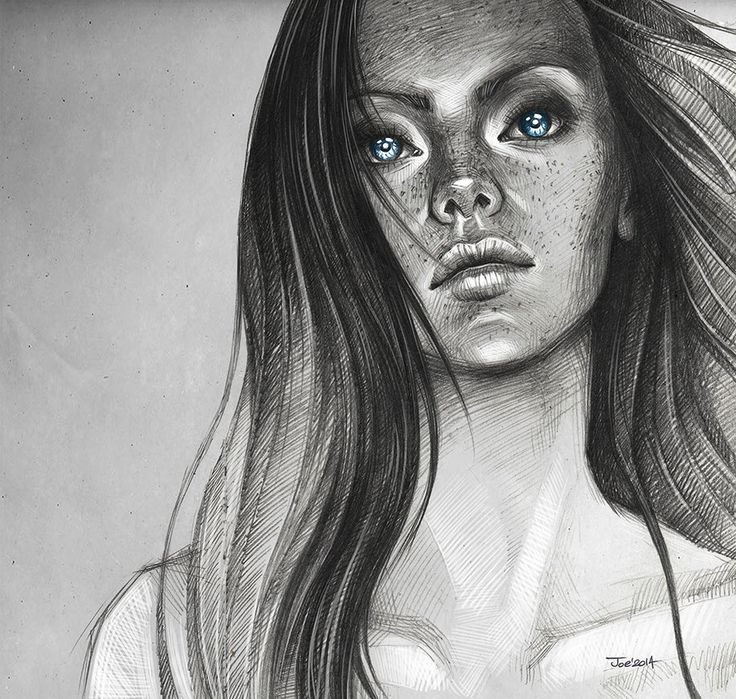 Blue eyes by sashajoe . Character Sketch / Drawing
