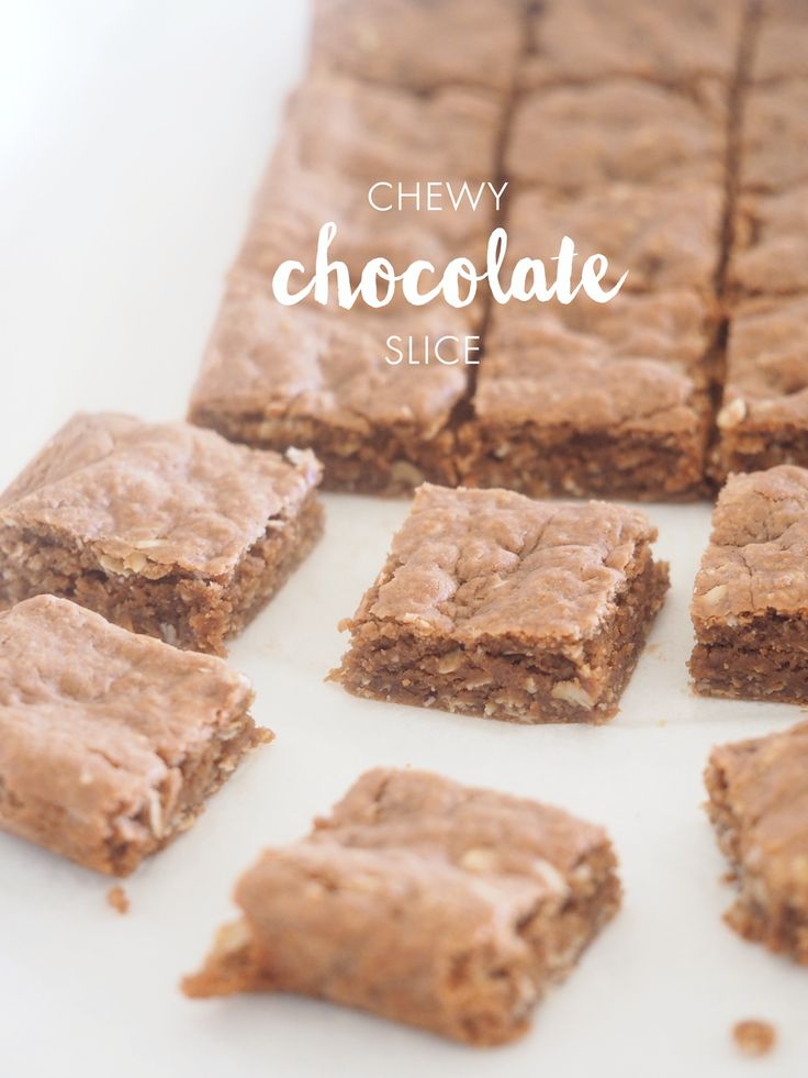 Want a quick and easy sweet treat? This chewy chocolate slice hits the spot, and is easy to bake.