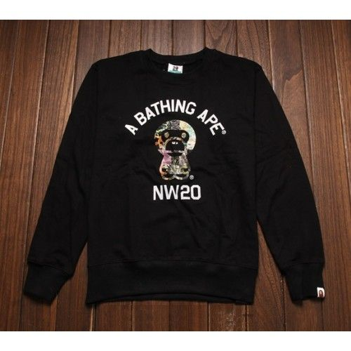 """On your 20's in your A Bathing Ape """"Baby Milo NW20"""" Sweater  http://superdap.com/outerwear/sweaters/a-bathing-ape-baby-milo-nw20-sweater-black  #abathingape #bape #bapesweater #streetwear #urbanwear"""