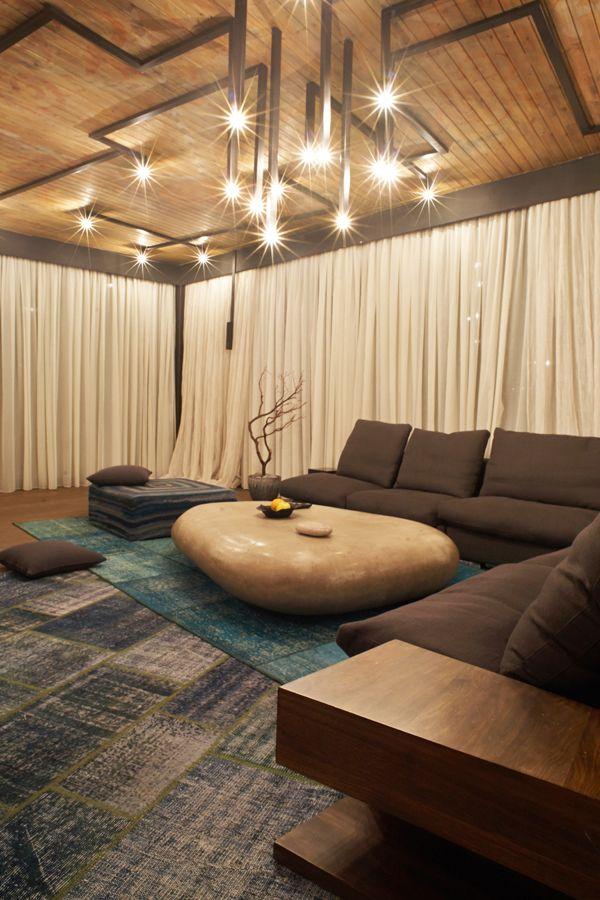Penthouse 1 by Alina Sargsyan, via Behance.  The table!