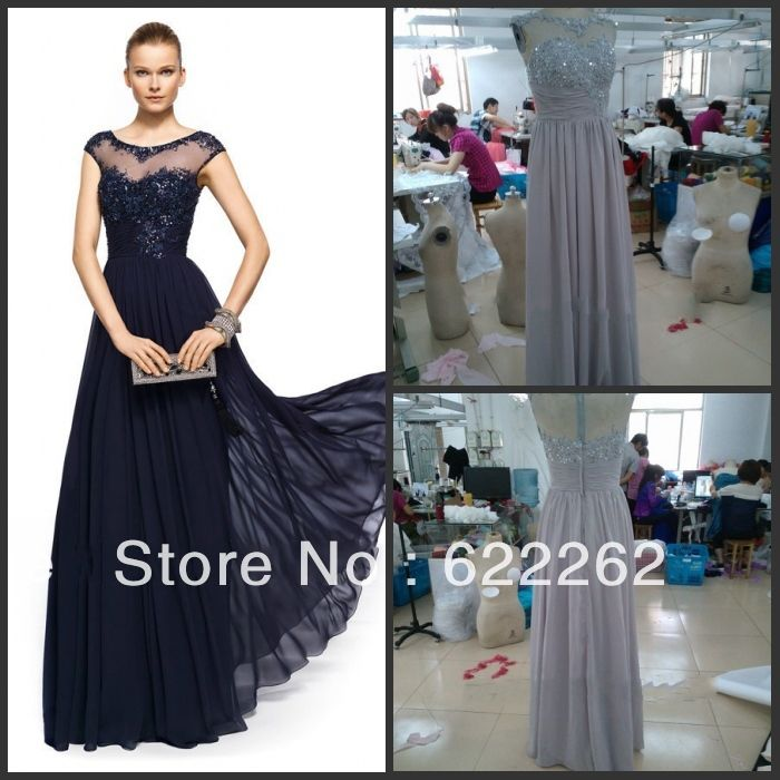 Новый самый продаваемый гостей платье с бусины и блестками шифоновое длиннее мать невесты платья платья вечерние платья