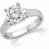Platinum 1/2 Ct Woven Solitaire Engagement Ring (VS2  Clarity, G-H Color) with GIA Certificate