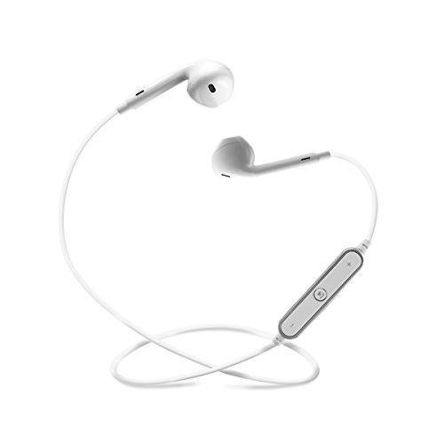 PLAY X STORE Bluetooth Headphones Cordless Earbuds, Wireless Sport Headsets Sweatproof Earphones (WHITE)