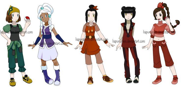 Pokemon Avatar girls by *Hapuriainen on deviantART