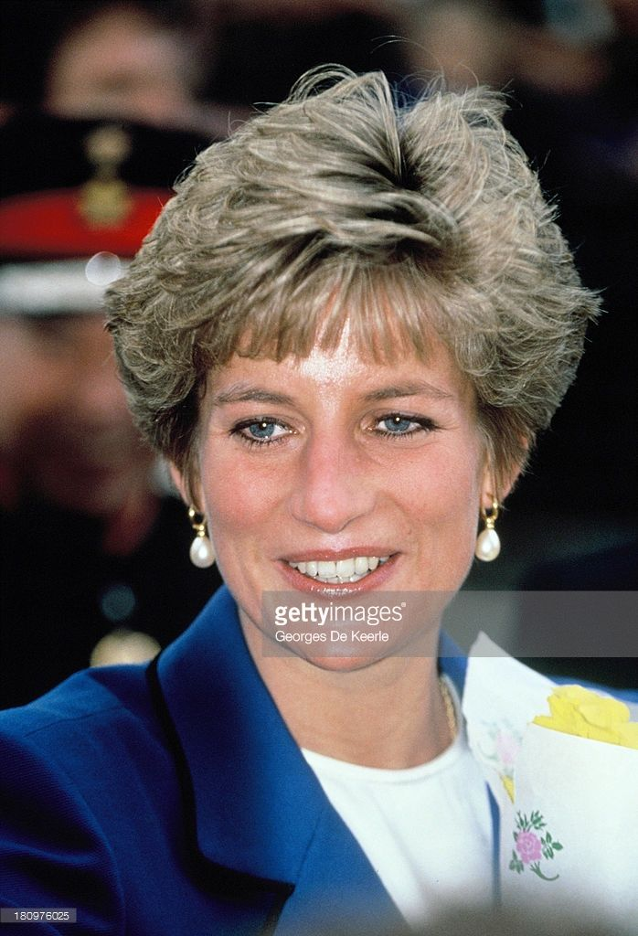Diana, Princess of Wales, on Saint David's Day, the patron saint of Wales, with her son Prince William upon his first official engagement on March 1, 1991 in Cardiff, Wales.