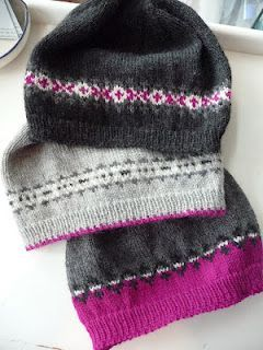Great idea!  Buy one skein of yarn for main color, use up all my scraps for pattern rows!