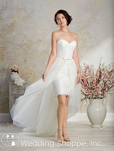 Elegant Alfred Angelo Bridal Gown The Wedding Shoppe Romantic Wedding GownsLace Bridal GownsShort